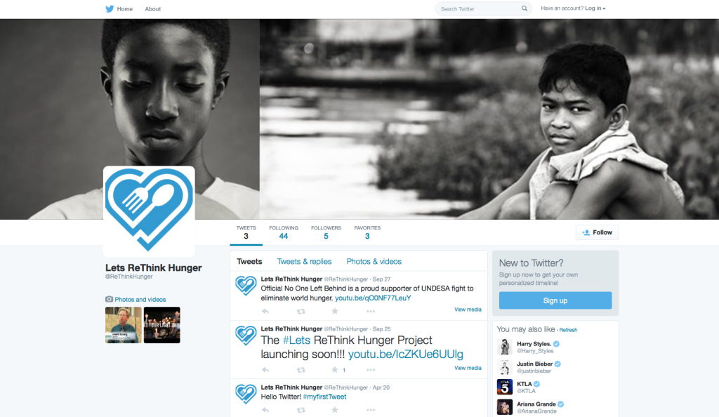 Twitter - Let's ReThink Hunger